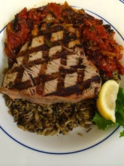 Fresh, local tuna served with roasted red peppers,