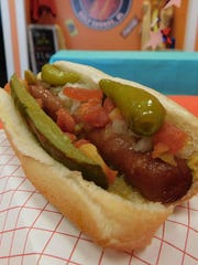 The Wacked Out Weiner offers more than 30 topping choices