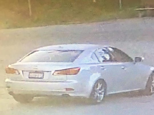 This car is associated with two men suspected of robbing a store in Prunedale Saturday.