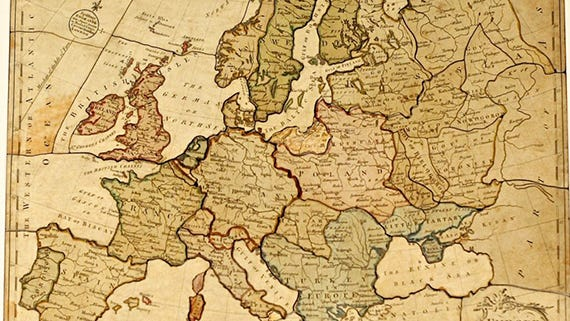 Puzzle, 1766, Europe Divided Into Its Kingdoms, Courtesy of The Strong, Rochester, New York