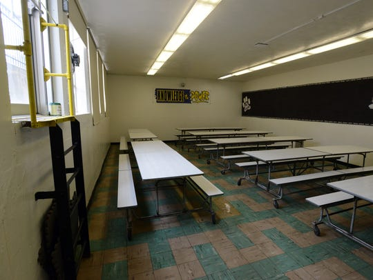 The cafeteria at Bloom-Carroll intermediate isn't large