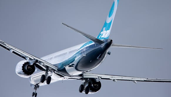 The first Boeing 737 MAX 9 takes off from Renton Field