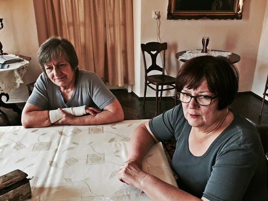 Zofia and Anna Silkowska at the home they share in