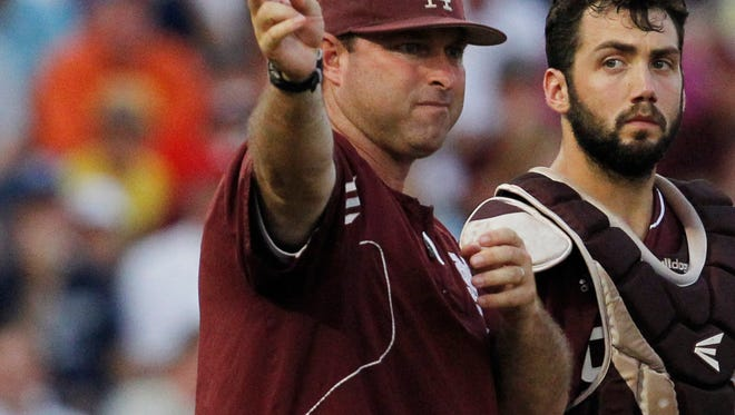 Mississippi State pitching coach Butch Thompson is a candidate for the Auburn head coaching job.