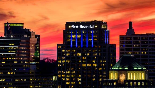 First Financial Bank's headquarters in Downtown Cincinnati.
