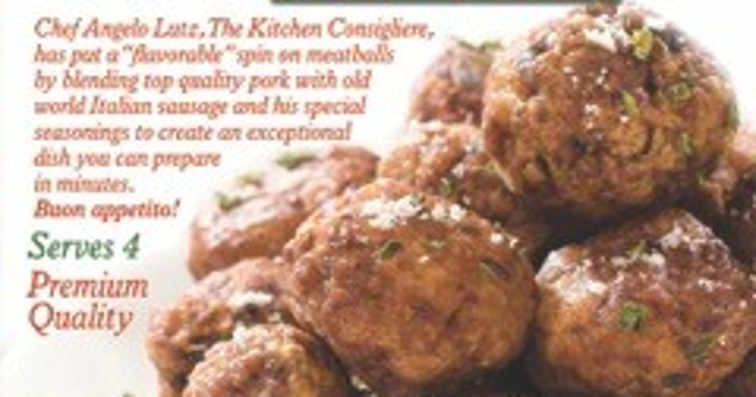 Kitchen Consigliere meatballs hit the big time