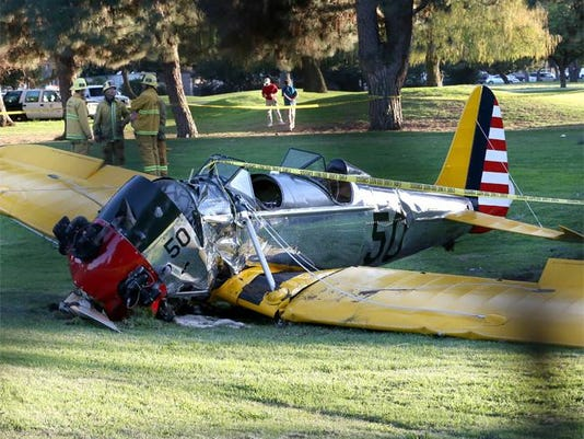 Harrison Ford's plane on Penmar Golf Course