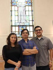 From left, Fabiola Alvarez, Oventh Estino, and Allex Luna will be traveling to see Pope Francis during his visit to the United States.