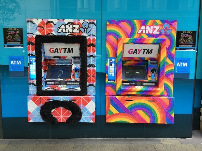 The outdoor category at the 2014 Cannes Lions International Festival of Creativity received 5,660 submissions and is one of 17 categories being honored. Here are some of the top outdoor winners, including Grand Prix winner ANZ Bank and their GAYTM campaign.
