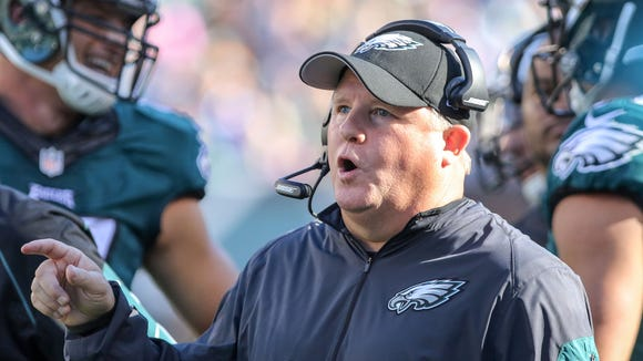 Eagles coach Chip Kelly said he's committed to turning around the Eagles' fortunes and not interested in returning to coaching in the college ranks.