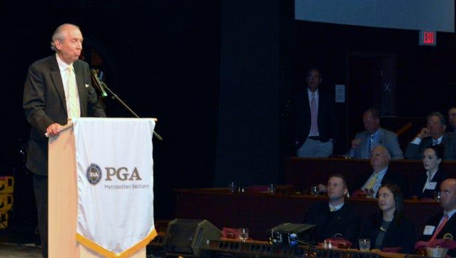 Jay Mottola received the Met PGA's Sam Snead Award.