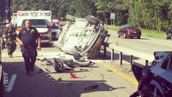A multi-car accident on Route 9A in Ossining closed southbound lanes for more than half hour Thursday evening.