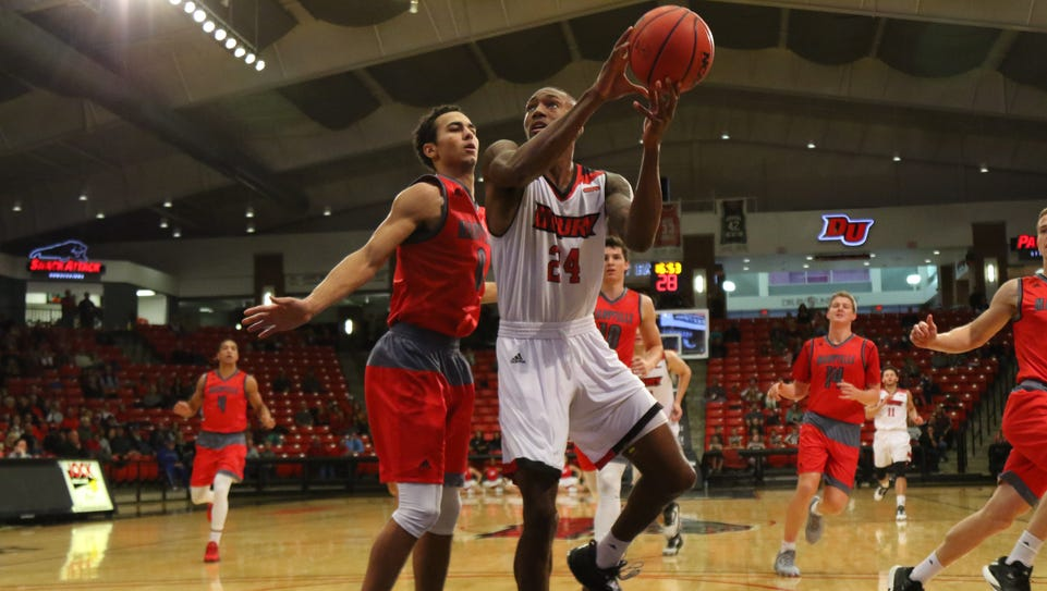 Drury sophomore Douglas Moore finds an opening in the