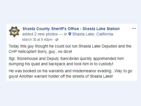 The Shasta County Sheriff's Office's Shasta Lake substation