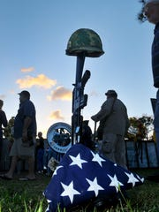 Scenes from the opening ceremony of last May's Florida Vietnam and All Veterans Reunion opening ceremony at Wickham Park in Melbounre.