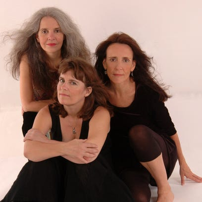 Maggie Roche (top) was a member of a musical trio featuring