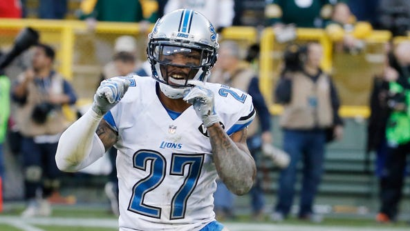 Detroit Lions safety Glover Quin reacts after a game
