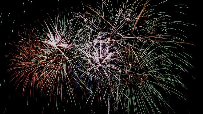 Fireworks fill a portion of the sky with a multitude of colors over the Finney County Fairgrounds during a past city fireworks display. Garden City will be holding its annual Fourth of July display on Saturday.