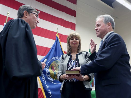 Judge Craig Johns swears in Rockland County Executive