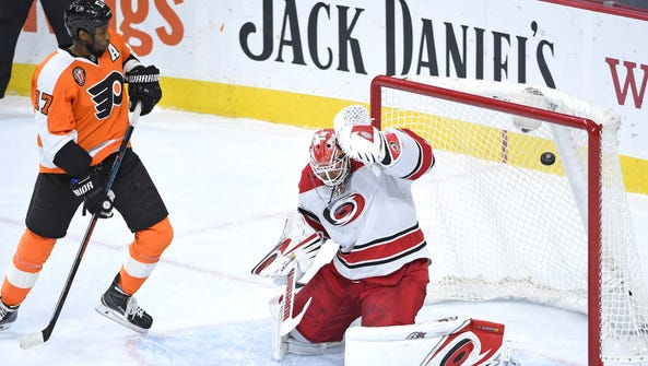 Last time the Flyers played the Hurricanes in Philadelphia,