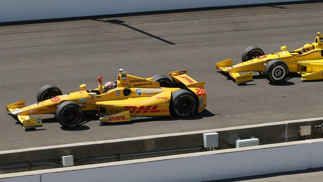Ryan Hunter-Reay won the 2014 Indianapolis 500 in this chassis No. 057