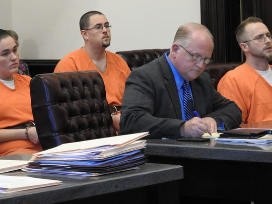 Public Defender Jeff Mullen represented Aarial Westhafer, Anthony Estvanko and Paul Wilcox Wednesday in Coshocton County Common Pleas Court on tampering with evidence charges related to the death of Michael Hamm.