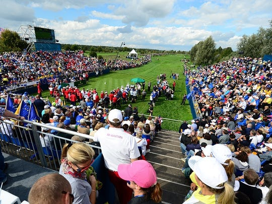 The 2015 Solheim Cup in Germany brought raucous crowds to Heidelberg. The 2017 women's golf team event will be staged at Des Moines Golf and Country Club.