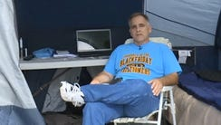 Ray McCarty is camping out for Black Friday in Florida.