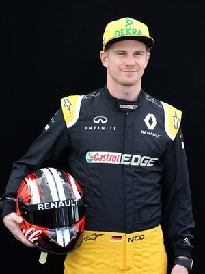 """Renault driver Nico Hulkenberg says the 2017 Formula One cars are """"a lot more demanding than before. Now you have to wrestle these cars!"""""""