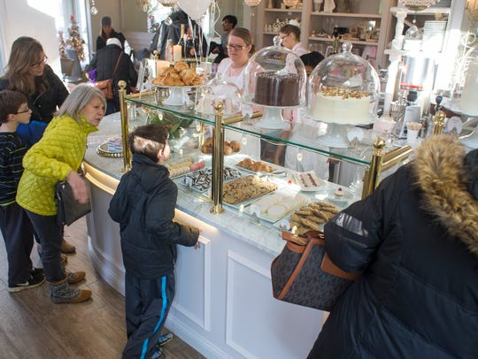 The main counter at The Cake Bake Shop's original location in the Broad Ripple area of Indianapolis. The shop's second location opens in 2018 in Carmel.