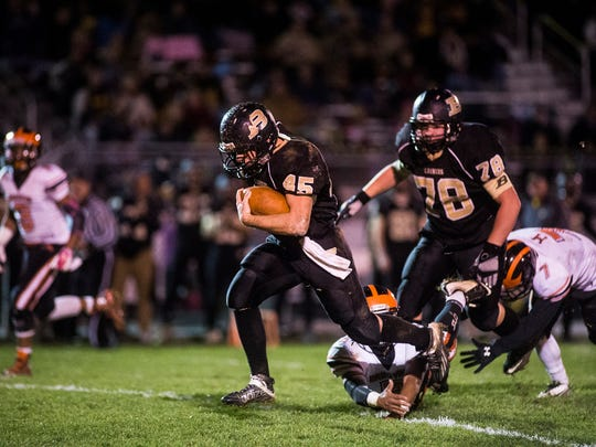Colton Sentz  has been running hard in recent weeks for Biglerville. The Canners hope he has another breakout performance in store when the team faces Wyomissing in Saturday's District 3 Class AA semifinals.