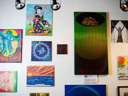 Work by local artists is for sale at The Rooted Artist