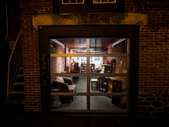 A look inside Waldo's from the outside behind Lark Gift Shop in downtown Gettysburg.