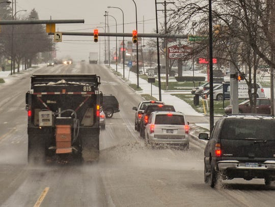 Expect icy roads Tuesday night and Wednesday morning.