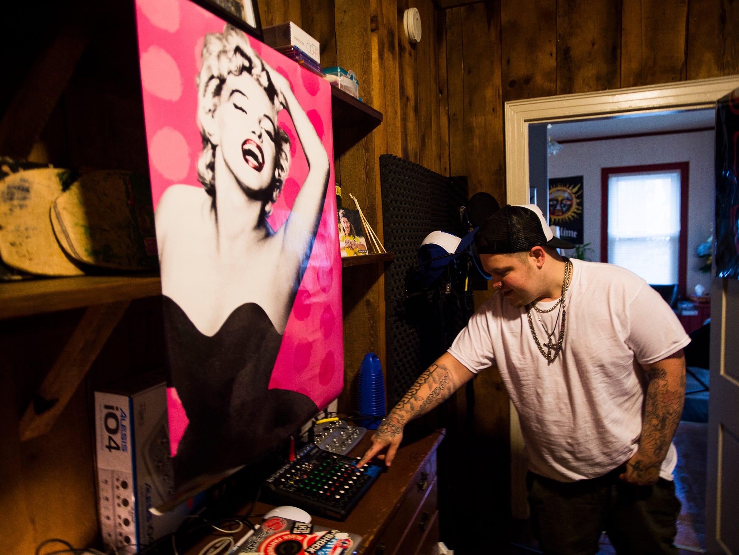 Jordan Keller explains some of the recording equipment