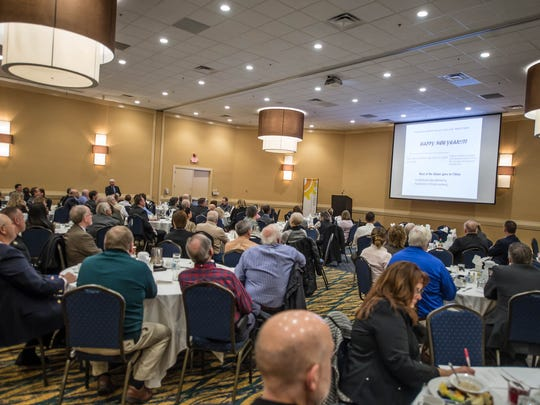 Thursday's annual economic forecast event for Calhoun County at McCamly Plaza Hotel.