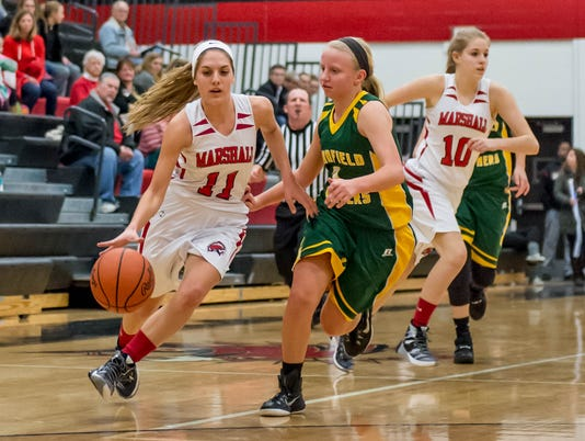 Pennfield Girls Basetball at Marshall