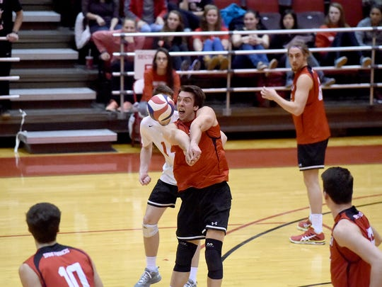 St. Francis redshirt sophomore Stephen Braswell leads the Red Flash in digs with 61 this season. The Northeastern graduate also ranks second in kills, service aces and points scored.