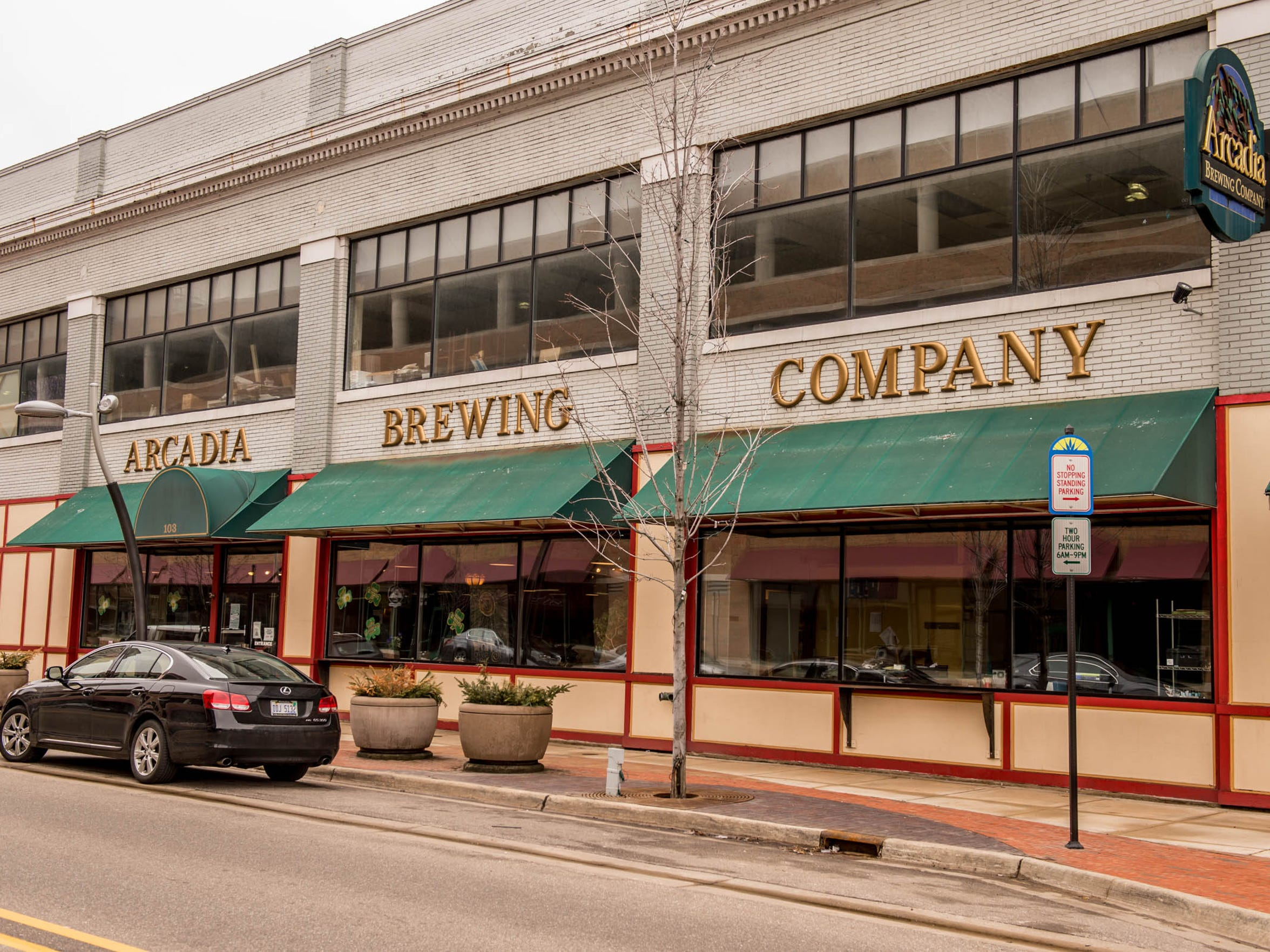Arcadia Brewing Co. is located at 103 W. Michigan Ave.