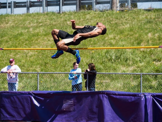 Red Lion's Abdula Best competes in the boys' high jump