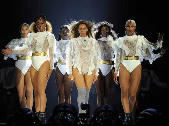 Opening night of Beyonce's Formation World Tour in Miami  on April 27.