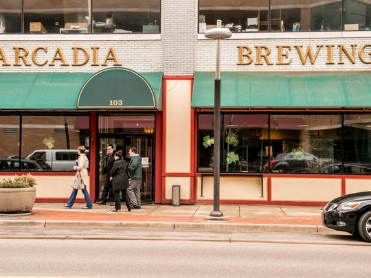 Al Lassen/For the Enquirer Arcadia Brewing Co. is at 103 W. Michigan Ave. Battle Creek Unlimited ?is currently engaged in a sale agreement with a buyer? for the building. Arcadia Brewing Co. is located at 103 W. Michigan Ave. Battle Creek Unlimited currently owns the building.