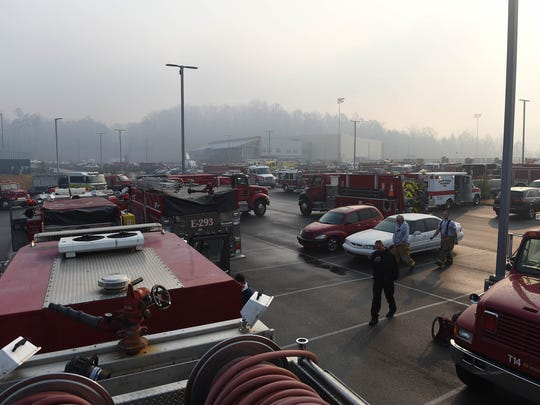 Firefighters from across the region are posted at the