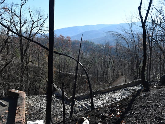 Property damaged in the Cobbly Nob area after wildfires
