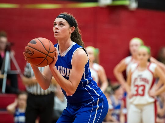 McKenzie Gelvin, who transferred to McConnellsburg in the fall, will take on her former team, the Forbes Road Cardinals on Thursday.