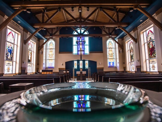 Inside of the St. Mary's Springs Academy Chapel.