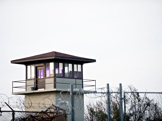 A guard tower at Tutwiler Women's Correction Facility