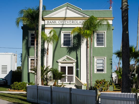 The Bank of the Everglades building in Everglades City, Fla., is seen on Saturday, Feb. 11, 2017. the Bank of The Bank of the Everglades building is being offered for sale to the county.