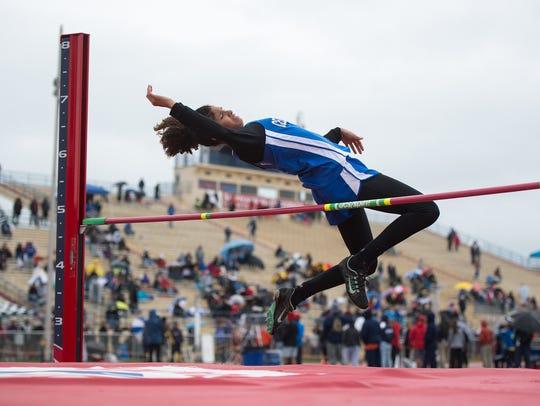 Cedar Crest's Ariel Jones competes in the girls high