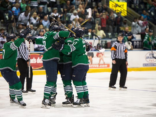 The Florida Everglades celebrate an early goal during